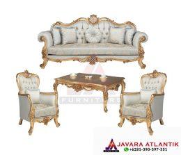 Visual Gambar Set Kursi Ruang Tamu Luxury Ukir Gold | Furniture Kurso Sofa Jepara Berkualitas