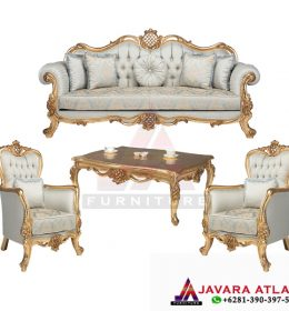 Visual Gambar Set Kursi Ruang Tamu Luxury Ukir Gold   Furniture Kurso Sofa Jepara Berkualitas