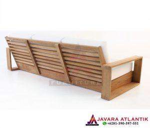 Sofa Ruang Tamu 3 Seat Tampak Belakang