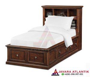 Harga Tempat Tidur Jati Minimalis JA078   Javara Atlantik Furniture Jepara Hight Quality