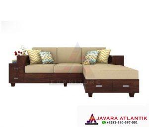 Jual dan Produksi Kursi Sofa Tamu Sudut Jati Minimalis Jepara | Kursi Sofa Sudut Jati Minimalis Modern