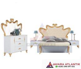 Produksi Langsung Set Kamar Tidur Medialum Gold Mewah Javara Atlantik Furniture Best Quality