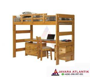 Jual Tempat Tidur dan Meja Belajar Anak Dengan Desain Tampilan Minimalis berbahan kayu jati