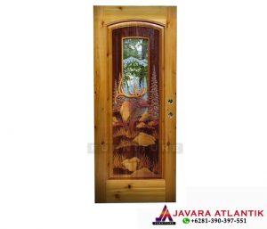 Jual Pintu Ukir Jati 3D Mewah JA-0127