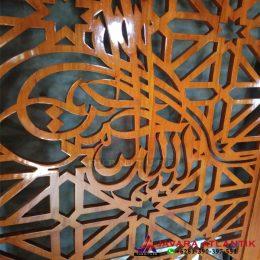 Detail Partisi Ruangan Pintu Sliding