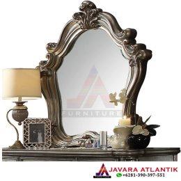Panel Cermin Ukiran Mewah
