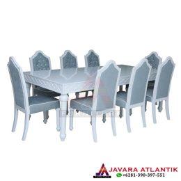 Meja Makan Klasik Simpel Minimalis Putih