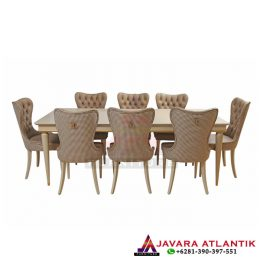 Set Meja Makan Modern Atlantis Brown