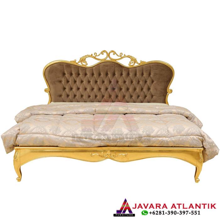Tempat Tidur Set Kamar Gold Leaf Luxury Style