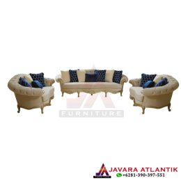 Set Sofa Chester Mewah Gold Classic