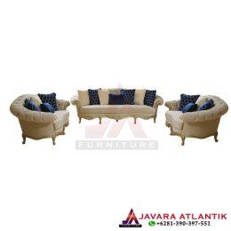Set Sofa Chester Mewah Gold Classic