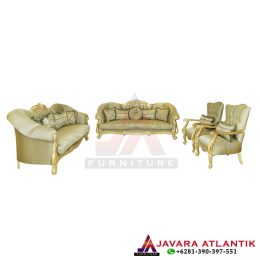 Set Sofa Tamu King Gold Luxury Style JA 206