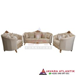 Set Sofa Tamu Ukir Luxury Klasik Gold, Jual Sofa Tamu Ukir 3 Seater