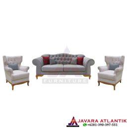 Set Sofa Tamu Vintage Modern Mewah, Jual sofa tamu vintage modern, Set kursi sofa tamu minimalis mewah