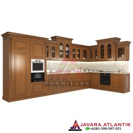 Kitchen Set Kayu Jati Minimalis Natural