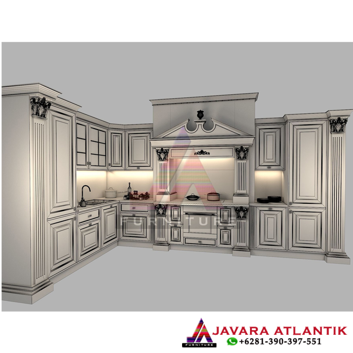 Sketsa Kitchen Set Mewah Dapur Modern