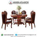 Jual Set Meja Makan Ukir Mewah Kayu Jati JAF0257