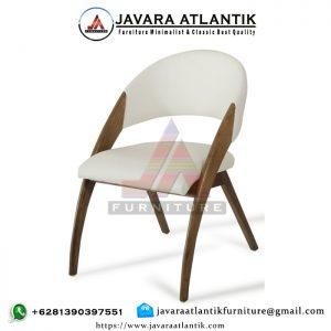 Kursi Cafe Minimalis Modern Jati JAF0276 Natural