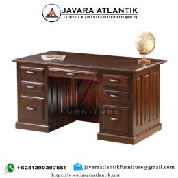 Meja Kantor Minimalis Executive Jati Solid JAF0265 Elegan