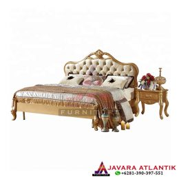 Ranjang Tidur Ukir Gold Mewah Modern