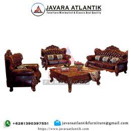 Set Kursi Tamu Ukir Jati Royal Mewah JAF0282 Klasik