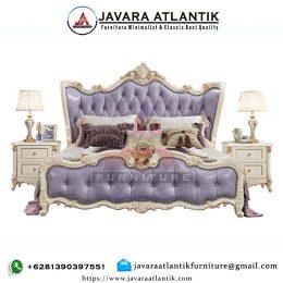 Tempat Tidur Ukiran Mewah JAF0294 Cat Duco