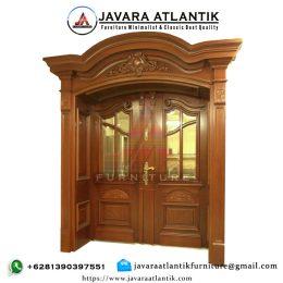 Kusen Pintu Rumah Jati JAF0356 Klasik Natural