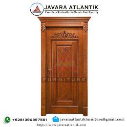 Kusen Pintu Ukir Jati Natural Mewah JAF0338