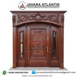Kusen Pintu Ukir Mewah JAF0354 Jati Solid