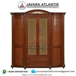 Lemari Baju Minimalis Klasik JAF0363 Pintu 4