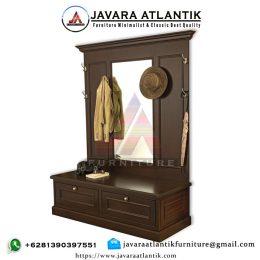 Lemari Gantungan Baju Jati JAF0358 Natural Terbaru