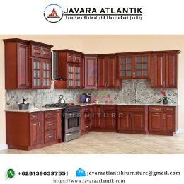 Jual Kitchen Set Minimalis Kayu Jati Modern