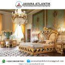 Set Kamar Ukir Mewah Jepara JAF0396 Gold Klasik