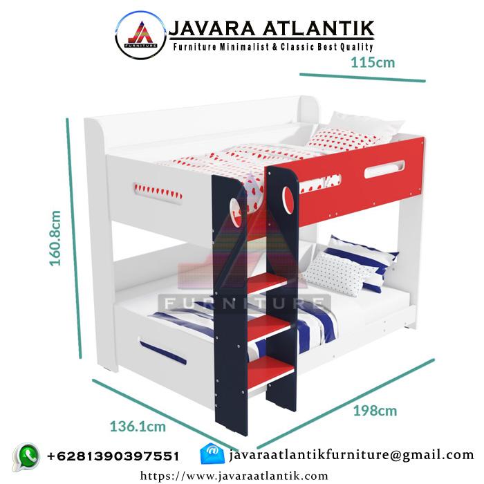 Ukuran Ranjang Tingkat Minimalis JAF0391 Modern Simpel