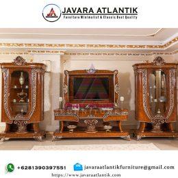 Bufet Tv Mewah Ukiran JAF0421 Terbaru