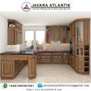 Kitchen Set Kayu Jati Natural Mewah