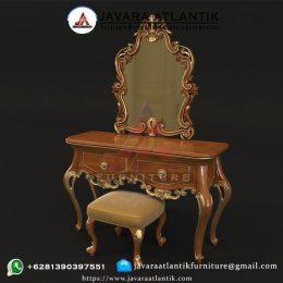 Meja Rias Ukiran Jati JAF0409 Luxury Klasik