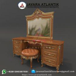 Set Meja Rias Jati Luxury JAF0410 Ukiran