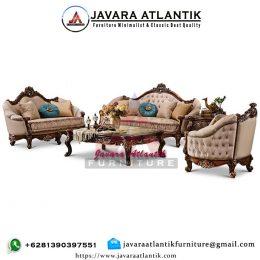 Sofa Ukir Jati Klasik JAF0429 Terbaru
