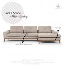Kursi Sofa Sudut Skandinavian Minimalis