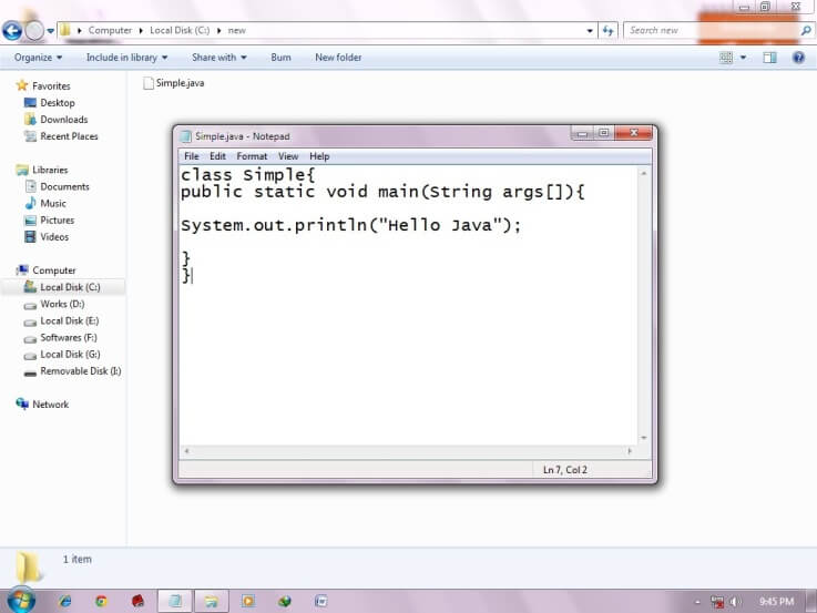 simple program of java