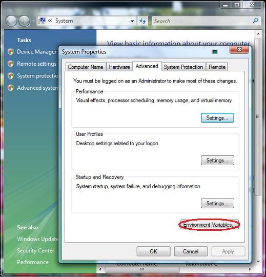 Adv. system settings