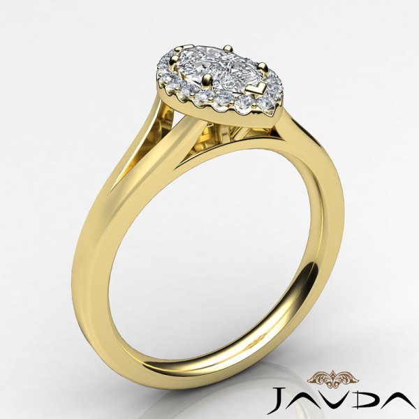 Yellow Gold Marquise Diamond Halo Ring