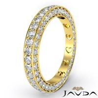 Women Anniversary Ring Pave Eternity Diamond Wedding Band ...