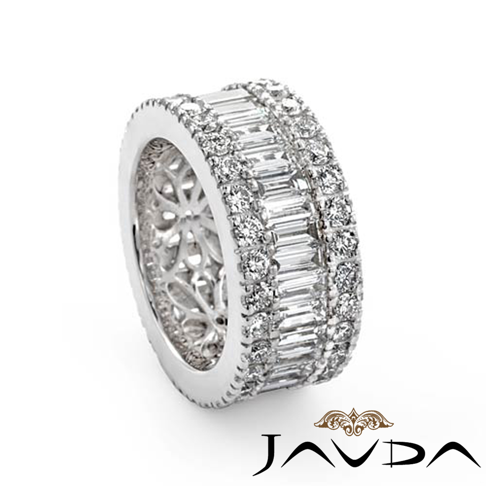 Womens Wedding Ring Baguette Round Diamond Eternity Band
