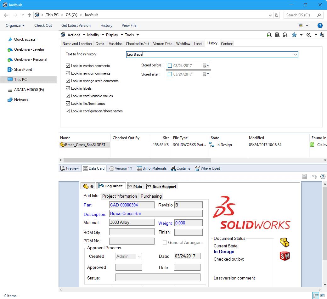 Solidworks Pdm Standard Software For Managing Design