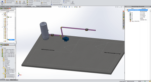 small resolution of solidworks 3d cad with imported p id diagram