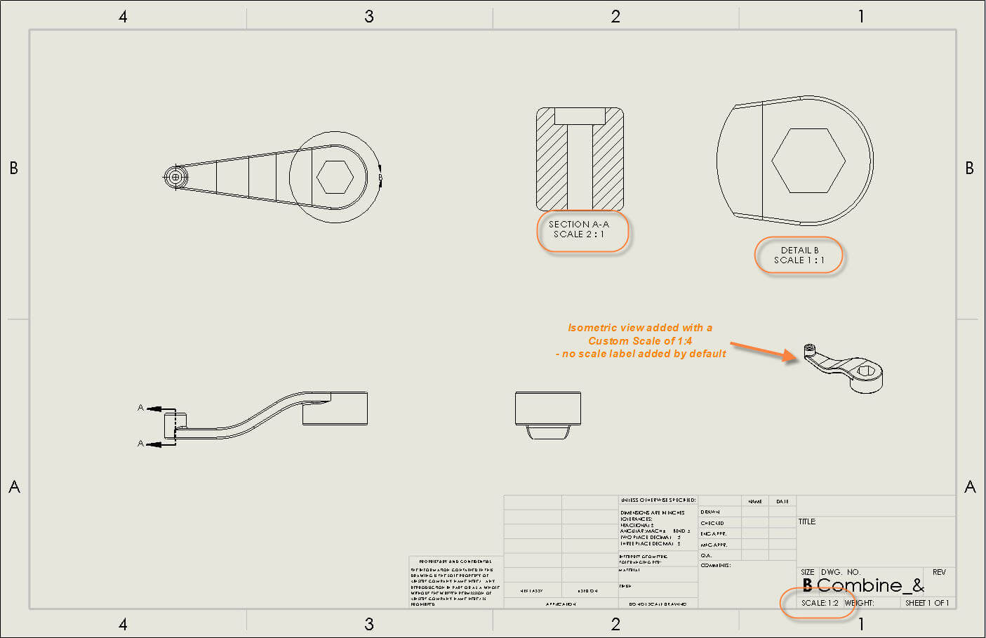 Automatically add a SOLIDWORKS Scale Label to all Drawing