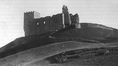 El Castillo de Saldaña en el Siglo XIX, provablemente, antes de 1893