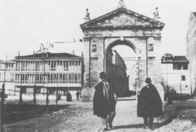 inicio de la calzadilla de Valladolid